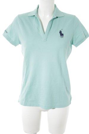 Ralph Lauren Polo-Shirt türkis-dunkelblau Casual-Look