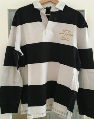 """Ralph Lauren Polo"" shirt, unisex, BW dick, bestickt Label"