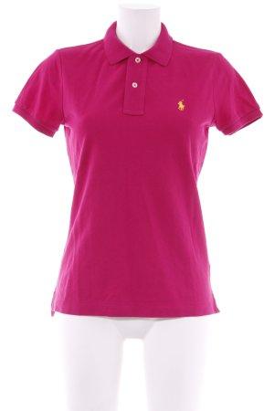 Ralph Lauren Polo-Shirt violett Casual-Look