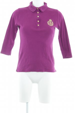 Ralph Lauren Polo-Shirt violett klassischer Stil