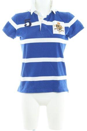 Ralph Lauren Polo-Shirt weiß-blau Streifenmuster Casual-Look