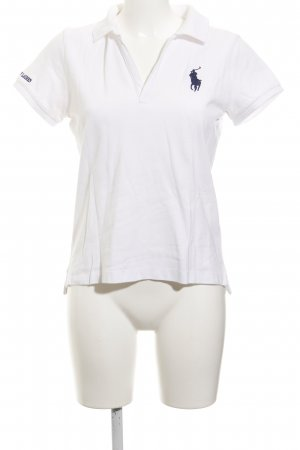 Ralph Lauren Polo-Shirt weiß-dunkelblau sportlicher Stil