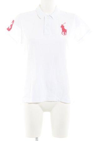 Ralph Lauren Polo-Shirt weiß-neonpink Casual-Look