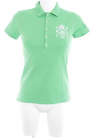 Ralph Lauren Polo Shirt meadow green-white athletic style