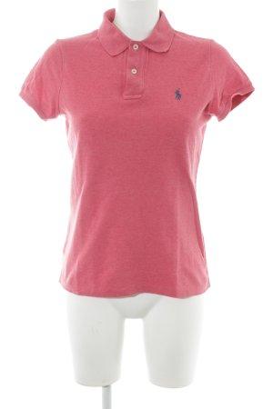 Ralph Lauren Polo-Shirt ziegelrot meliert Country-Look