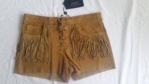 Ralph Lauren Polo, Shorts, Büffelleder, Gr. 6 (US), braun, neu, € 950,-