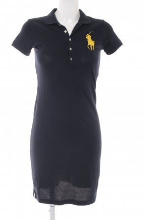 Ralph Lauren Polo Dress dark blue-yellow college style