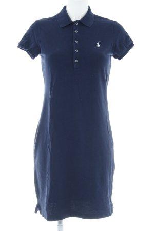 Ralph Lauren Vestido tipo polo azul oscuro-blanco estilo clásico