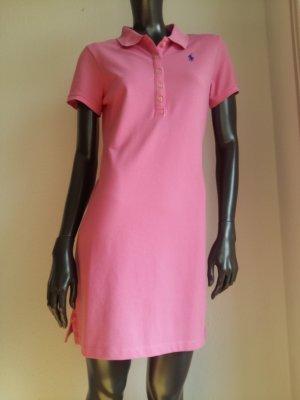 Ralph Lauren Vestido tipo polo rosa-azul aciano Algodón