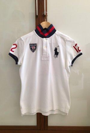 Ralph Lauren Poloshirt, England, weiß, blau, rot, neuwertig