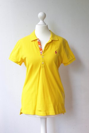 "Ralph Lauren Poloshirt ""The Skinny Polo"" gelb/orange"
