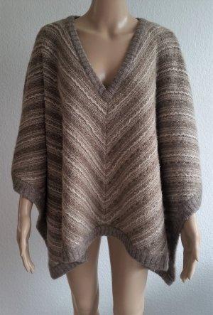 Ralph Lauren Poncho sand brown-natural white mixture fibre