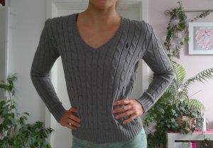 Ralph Lauren Jersey con cuello de pico gris