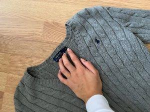 Polo Ralph Lauren Pull torsadé gris