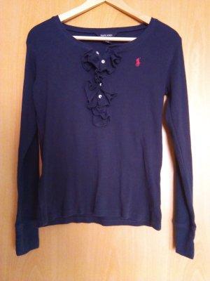 Ralph Lauren Camisa acanalada rosa-azul oscuro Algodón
