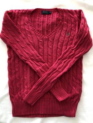 Lauren by Ralph Lauren Cable Sweater magenta cotton