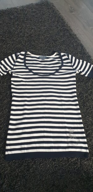 Ralph Lauren Veste chemise blanc-bleu foncé
