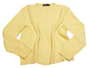 RALPH LAUREN Pullover gelb 100% Kaschmir Gr.44/46