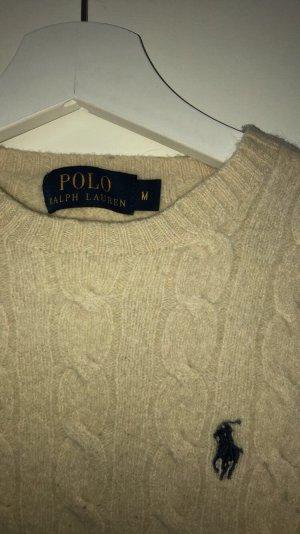 Ralph Lauren Pullover in beige/creme mit marineblauem Logo