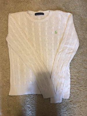 Ralph Lauren Pullover all'uncinetto bianco-verde pallido