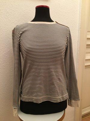 Ralph Lauren Pullover Shirt Creme weiß blaue Streifen Gr L so gut wie neu
