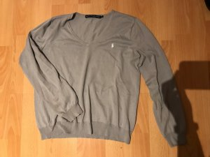 Ralph Lauren Sport V-Neck Sweater light grey