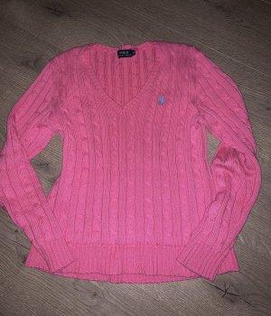 Ralph Lauren Jersey trenzado rosa-verde