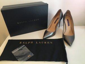 Ralph Lauren Pumps Gr. 38 Silber Grau