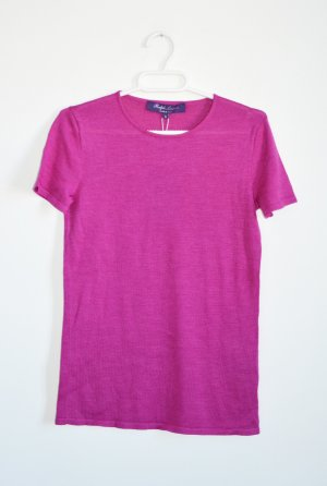 Ralph Lauren Purple Label Fuchsia Stricktop Seide / Kaschmir Mix