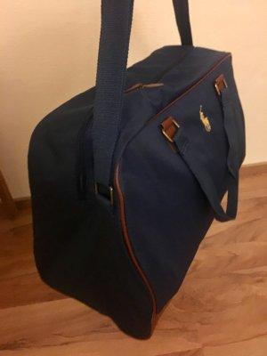 Ralph Lauren Reisetasche, Sporttasche, Schultasche, Weekender, Tasche, Travel Bag, Leder, braun,  blau, navy **NEU**