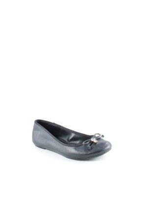 Ralph Lauren Riemchen Ballerinas schwarz Casual-Look