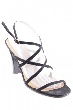 Ralph Lauren Strapped High-Heeled Sandals black elegant