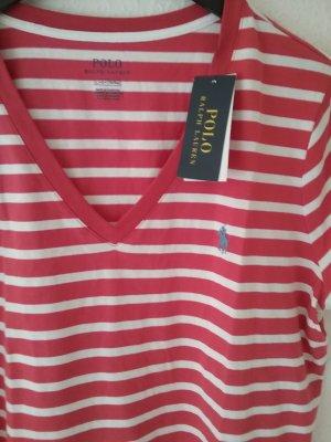 Polo Ralph Lauren Gestreept shirt wolwit-baksteenrood