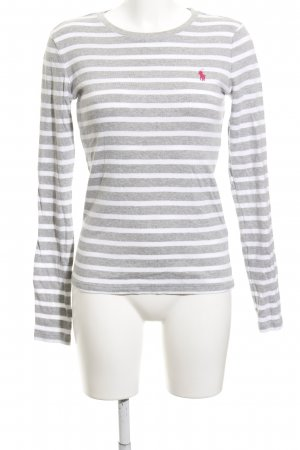 Ralph Lauren Gestreept shirt lichtgrijs-wit gestreept patroon casual uitstraling