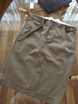 Ralph Lauren Denim Skirt grey brown cotton