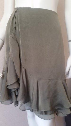Ralph Lauren Zijden rok olijfgroen