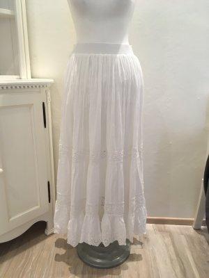 Ralph Lauren Jupe longue blanc tissu mixte