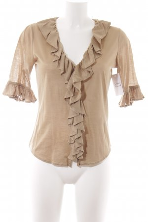 Ralph Lauren Ruffled Blouse gold-colored casual look
