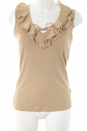 Ralph Lauren Frill Top beige street-fashion look