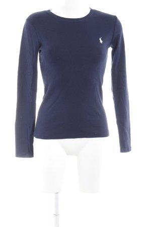 Ralph Lauren Rundhalspullover dunkelblau-weiß Casual-Look