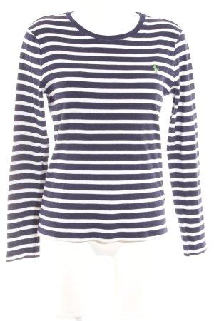 Ralph Lauren Rundhalspullover dunkelblau-weiß Streifenmuster schlichter Stil
