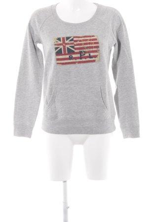 Ralph Lauren Kraagloze sweater lichtgrijs-grijs casual uitstraling