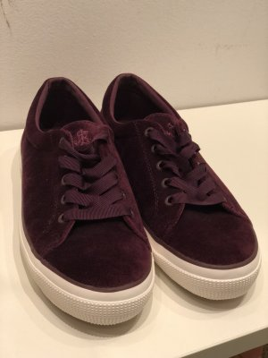 Ralph Lauren Samt Sneaker Bordeaux Größe 41