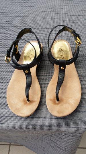 Ralph Lauren High-Heeled Sandals black leather
