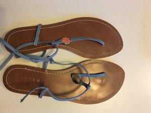 Ralph Lauren Sandalen met bandjes blauw-azuur