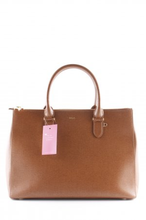 "Ralph Lauren Cartella ""Double Zipper Satchel Lauren Tan"" marrone chiaro"