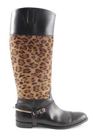 Ralph Lauren Jackboots black-brown animal pattern casual look