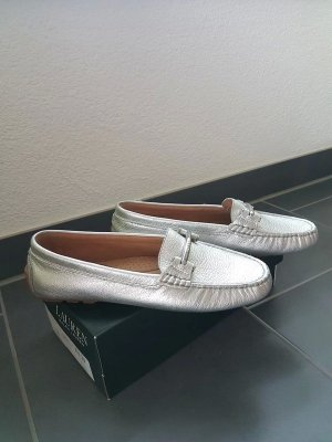 Lauren by Ralph Lauren Moccasins light grey-silver-colored leather