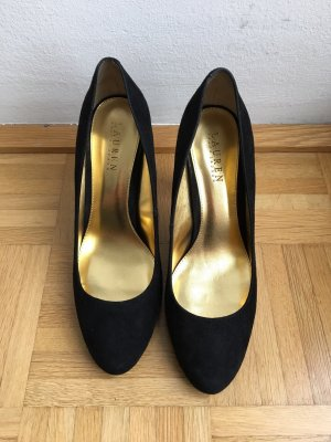 Ralph Lauren Schuhe (schwarz gold)