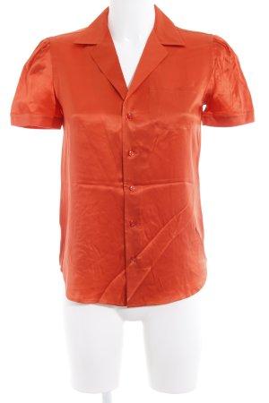Ralph Lauren Seidenbluse orange Business-Look